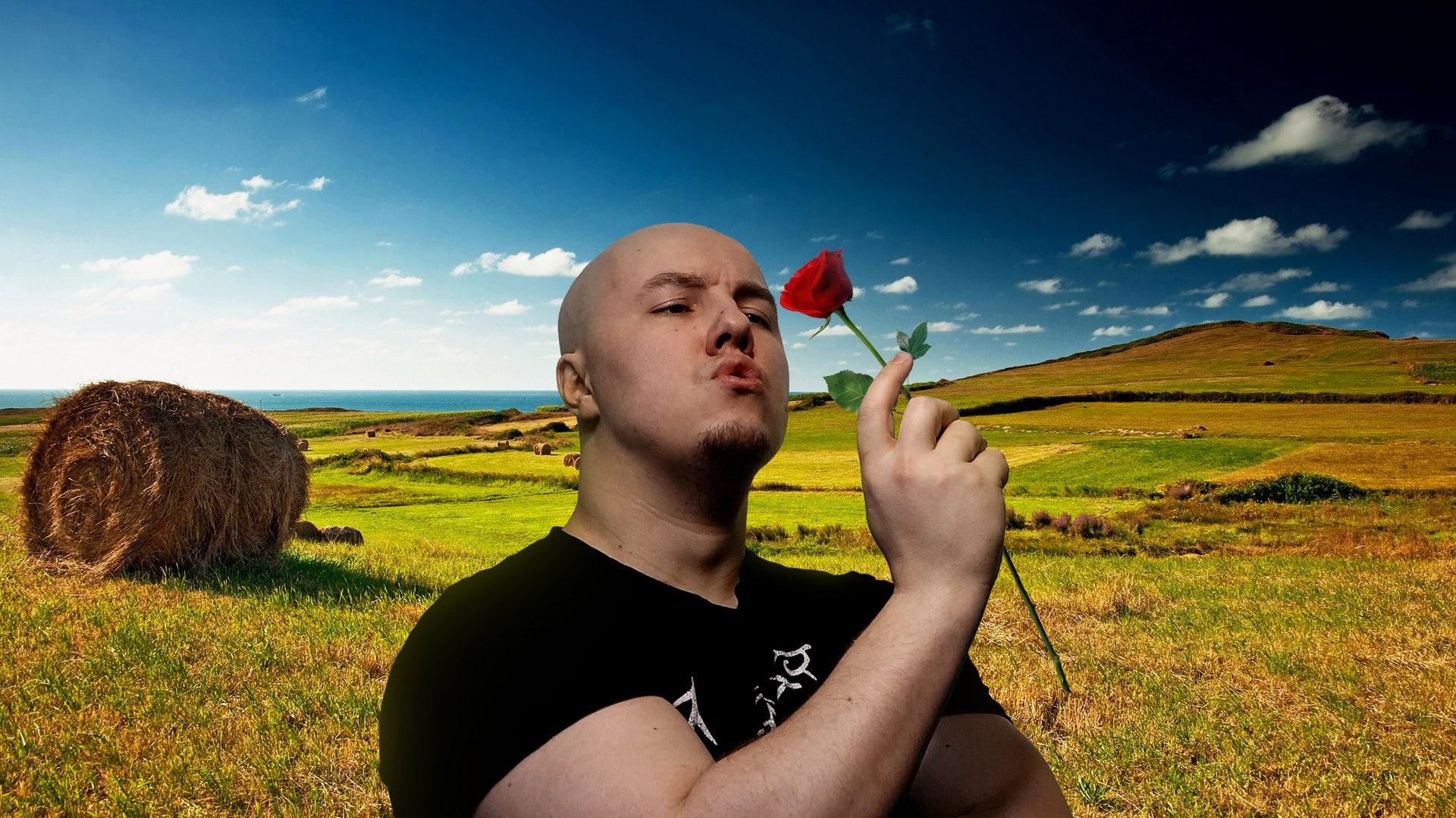 Русский Мясник с красной розой