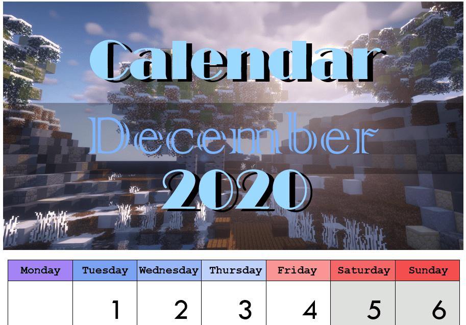 Printable Calendar 2020 by CaraRose