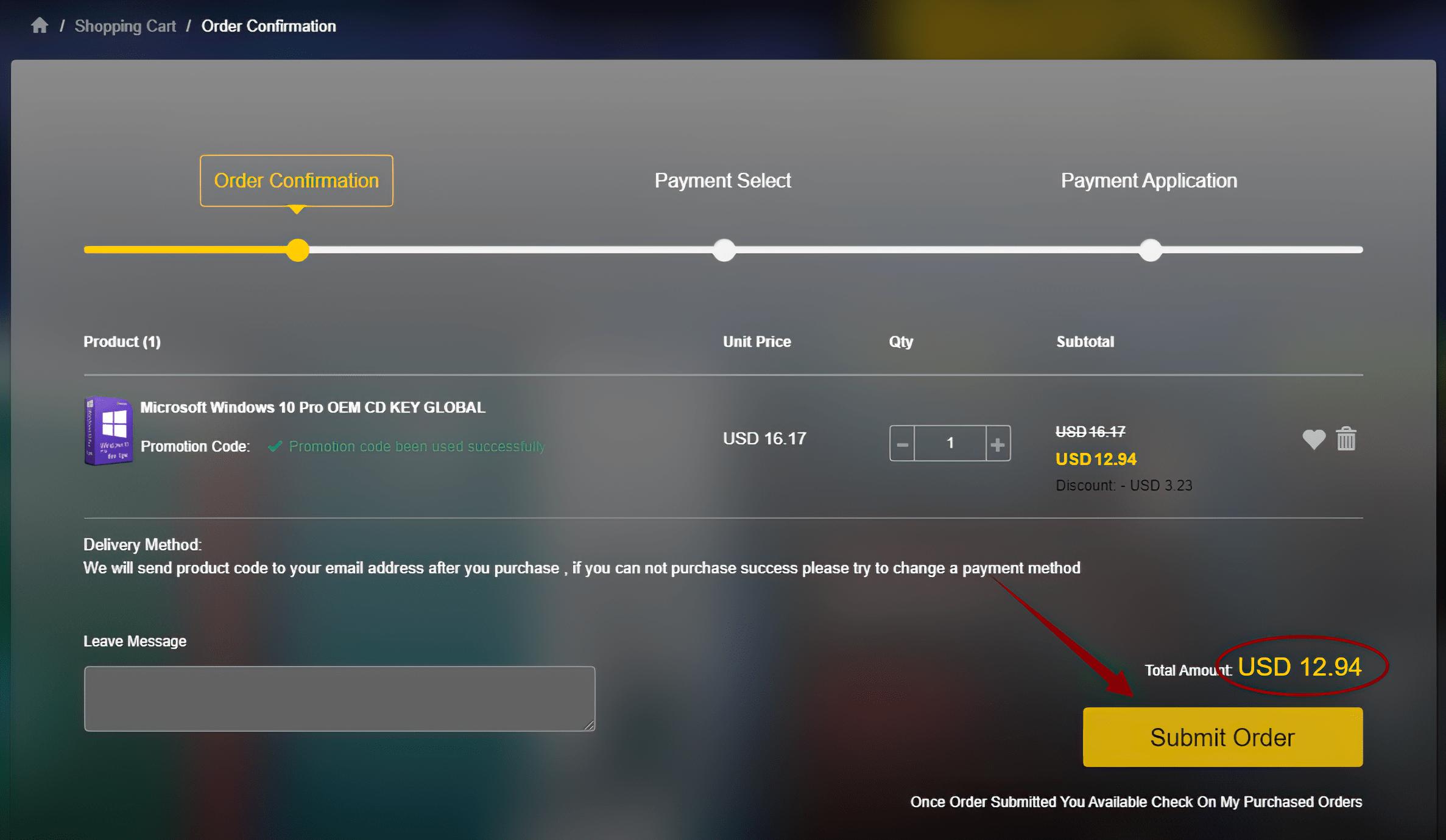 Cdkeyoffers - Checkout