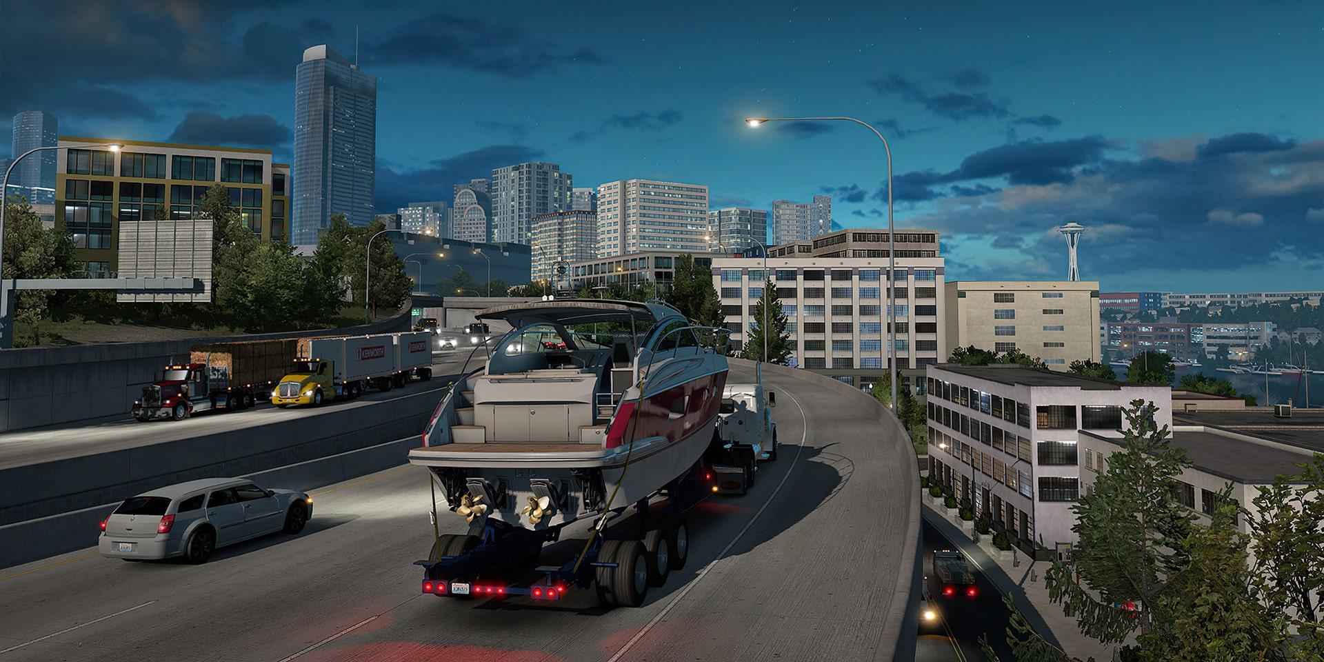 Магистральная дорога в Euro Truck Simulator 2