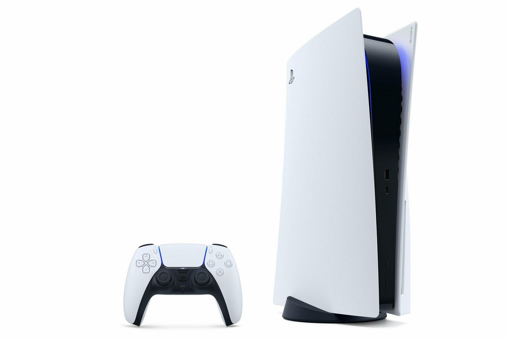 PlayStation 5 и геймпад Dualsense