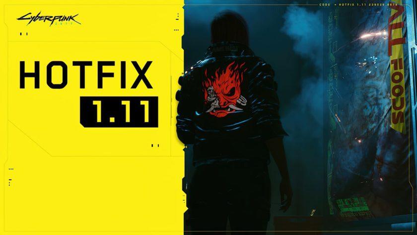 Cyberpunk 2077 Hotfix 1.11