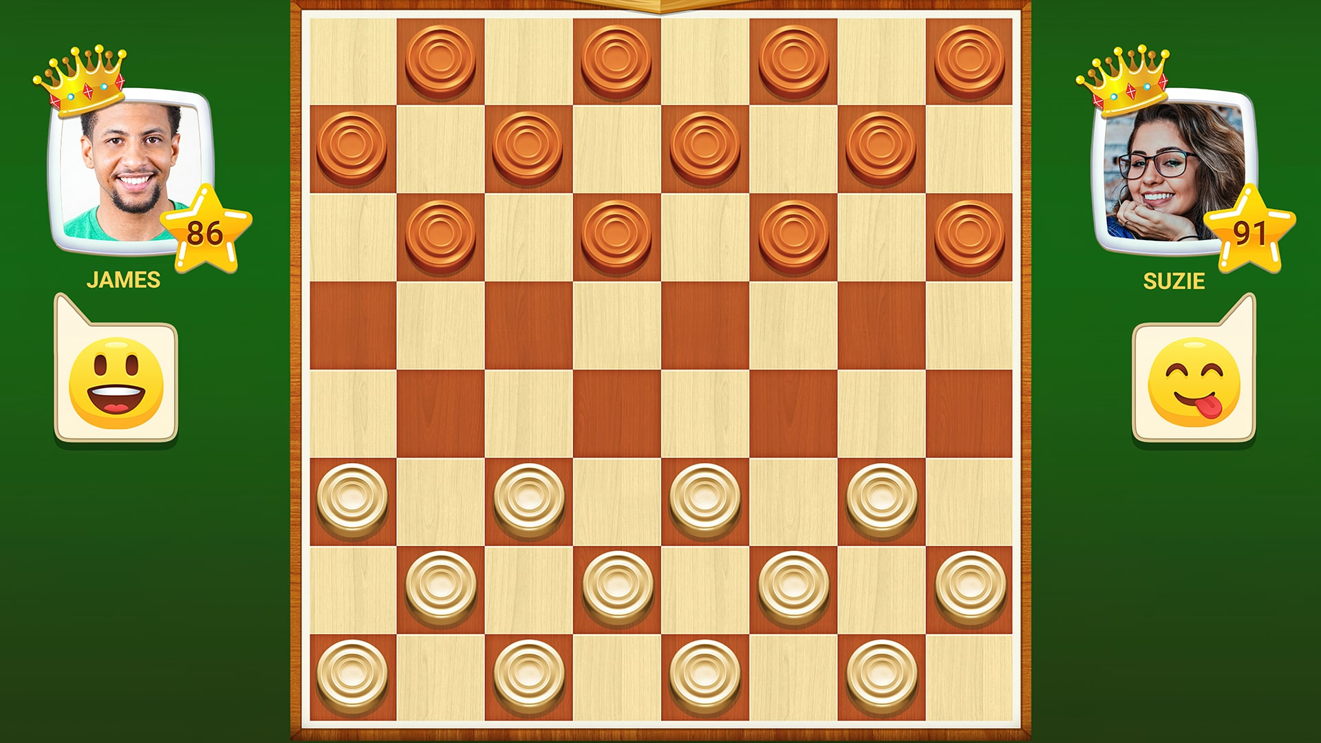 Quick Checkers - Начало игры