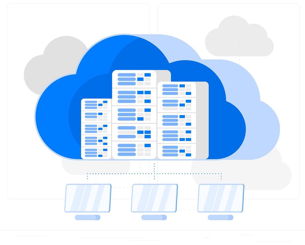 Схема работы облачного сервера