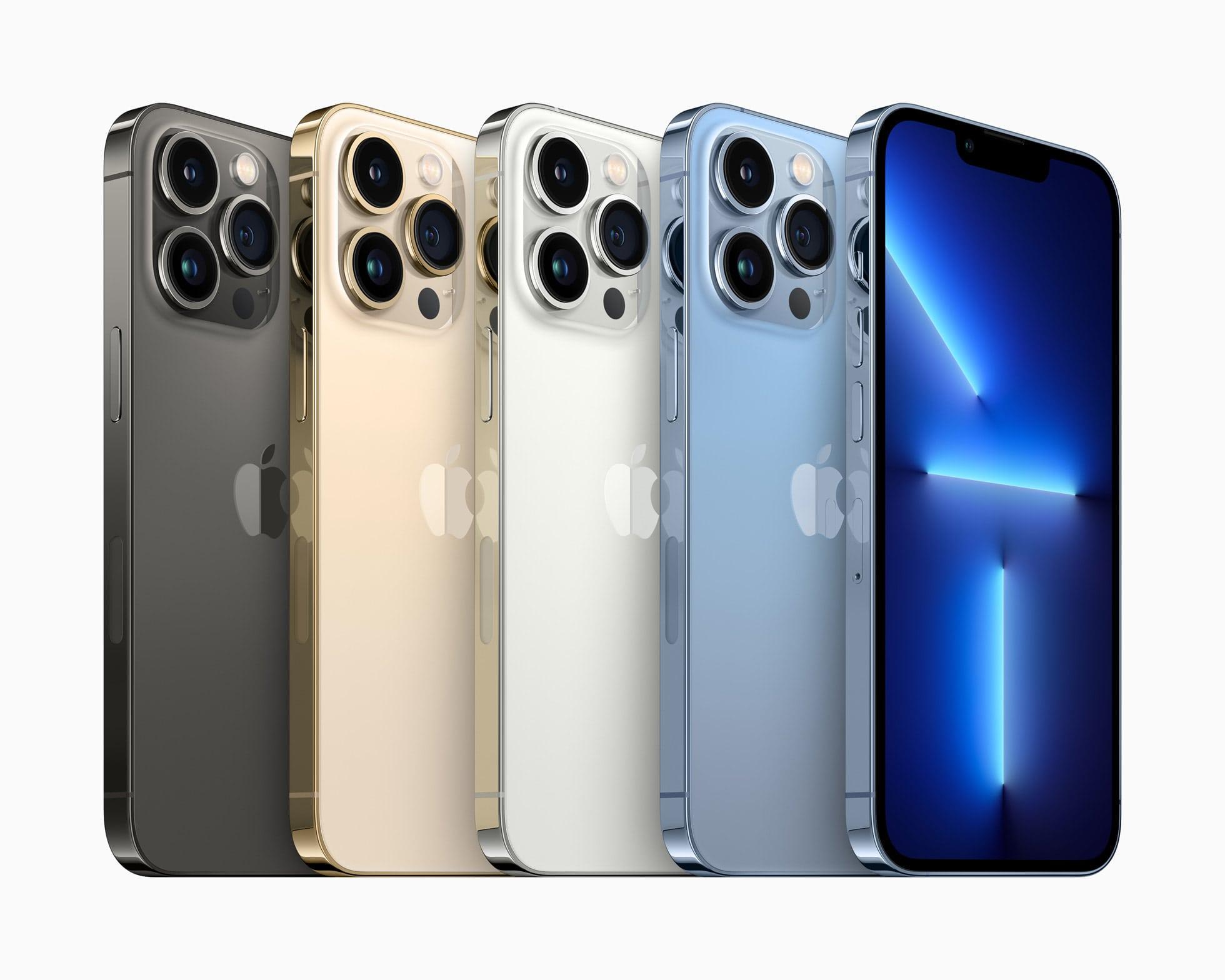 iPhone Pro 13 в разных цветах